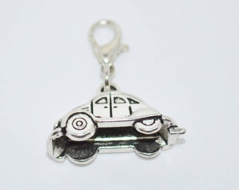 Zipper Charm VW Beetle, VW Zipper Clip, Volkswagen Charm Zipper Clip, Zipper Charm with VW Beetle, Volkswagen Bug Purse Charm