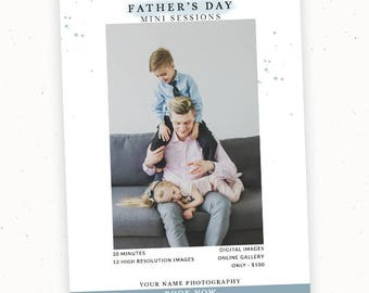 Premade Mini Session, Fathers Day Template, Marketing Board, Photography Marketing, Photographer Marketing, Father's Day Photoshop c163