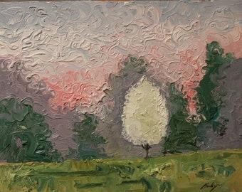 spring blooms original oil painting 11x14