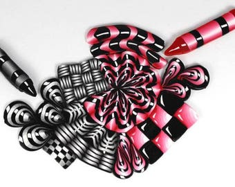 Polymer Clay Zendoodle Cane Tutorial