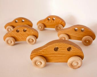 Small wooden cars
