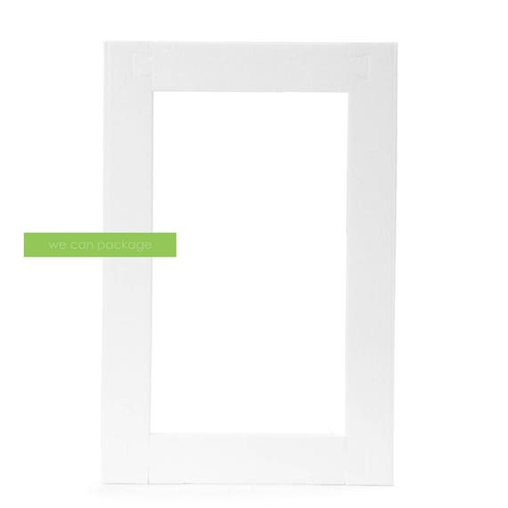 White Large Styrofoam Picture Frame Foam Photo Frame