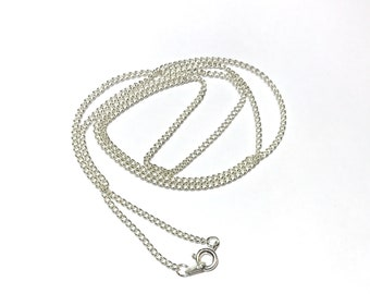 Chain necklace, silver plated chain, curb chain, nickel free chain