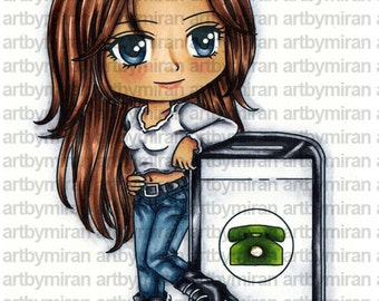 Digital Stamp - Talkative Tracy (#265)
