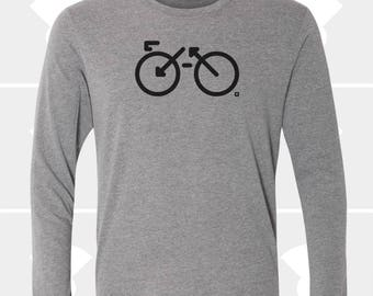 Bike, Long Sleeve T Shirt, Gift for Biker, Cyclist, Dad, Brother, Sister, Men's Shirt, Womens Clothing, Biking Gift, Bicycle