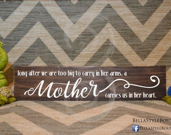 Mother's Arms Wood Sign 24""