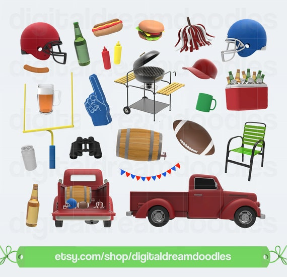 football clipart tailgate clip art tail gate party graphic cooler rh etsystudio com tailgate clipart images tailgate clips for fiesta xr2 mk2