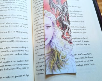 Fire and Blood Illustrated Bookmark, 2x6