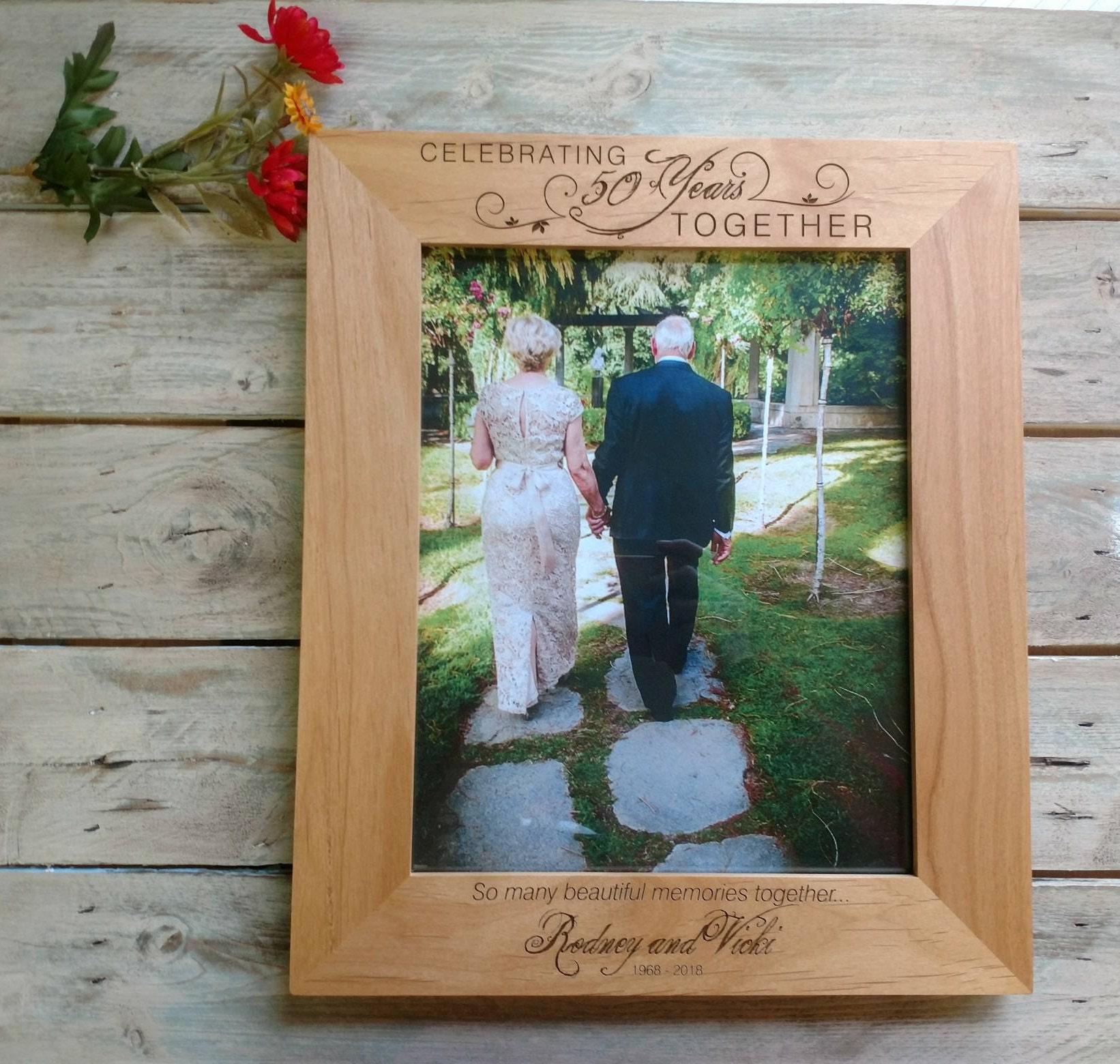 50th Wedding Anniversary Frame Personalized Anniversary