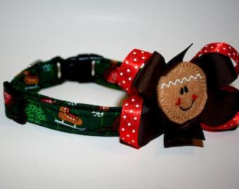 Christmas Collar with Slide on Bow