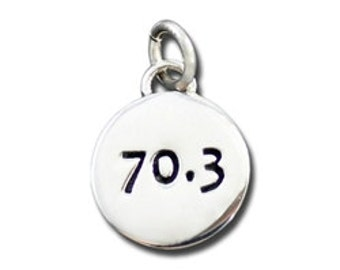 70.3 Charm Half Ironman Jewelry Charm Sterling Silver