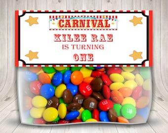 Carnival Treat Bags, Circus Bag Topper, Big Top Carnival, Carnival Decorations, Carnival Theme, Carnival Shower, Printable Carnival