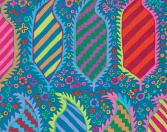 Kaffe Fassett Collective Striped Herald Turquoise - 1/2yd