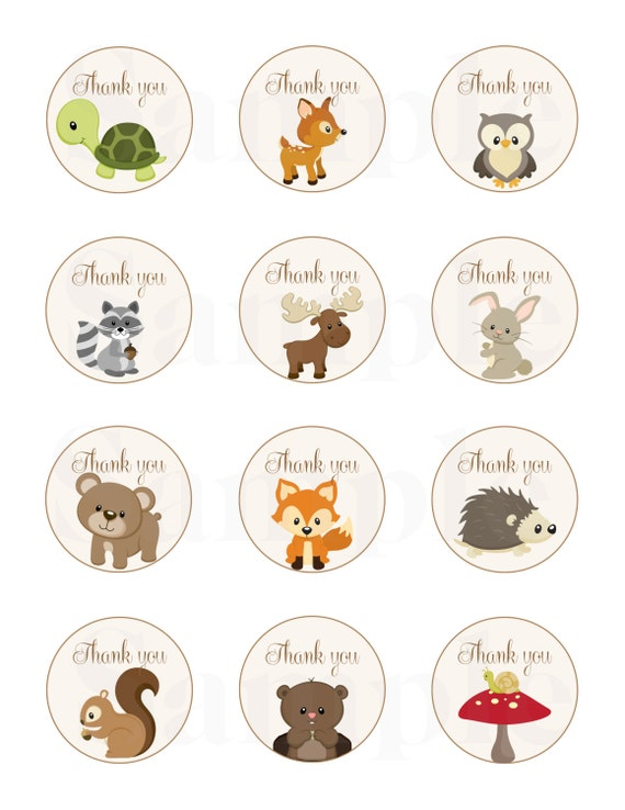 Sly image with printable woodland animals