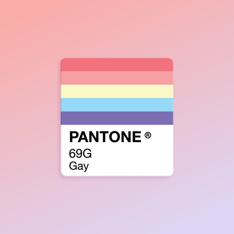 LGBTQ Refrigerator Magnet Gay Pantone