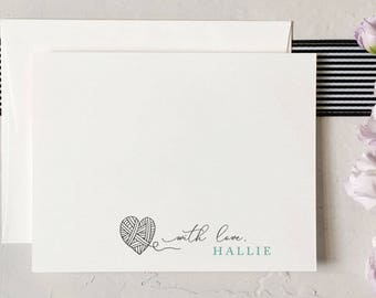 Personalized Stationery • Custom Notecards • Monogram Notecard • Wedding Thank You Cards • Q317-006