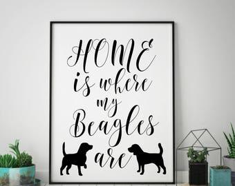Beagle Dog Art, Beagle Dog Gift, Beagle Print, Wall Art, Living Room Art, Living Room Decor, Wall Decor, Home Decor