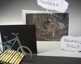 "mountain bike - ""fully enduro"" - decorative object for the desk - full suspension bike 3D view"