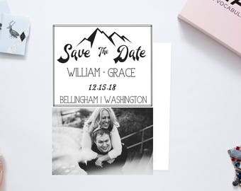 Black and White out door Save the Date