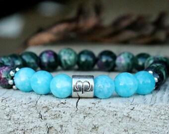 zodiac jewelry aries star sign Aries jewelry Aries bracelet aquamarine jewelry Zodiac bracelet Astrology jewelry Astrology Horoscope jewelry