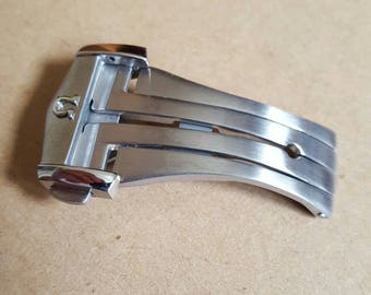 20mm NEW High Quality brushed Stainless steel Deployment Clasp Omega seamaster watch