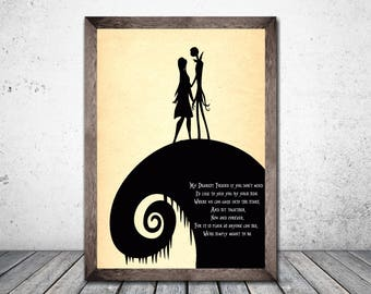 The Nightmare Before Christmas, Valentines Day, Gift For Her, Gift For Him, Valentines Day Gift, Jack And Sally, My dearest friend