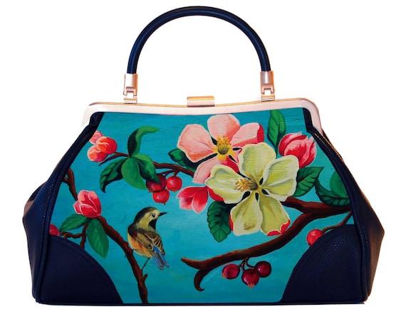 Retro handbag,Vintage handbag,Blossom,christmas,gifts,gifts for her,gifts for mom,Woody Ellen handbag,christmas gifts,christmas gift ideas