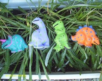 Dinosaur Ornaments - Set of 4