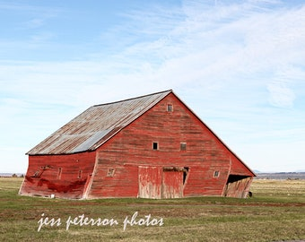 Barn Photography- Idaho Countryside Photos, Red Barn Prints, Landscape Photography Rustic earthy home decor, barn print, gift for barn lover