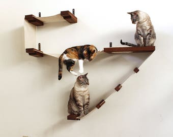 Deluxe Playplace - Cat Hammock Shelves - Free US Shipping*