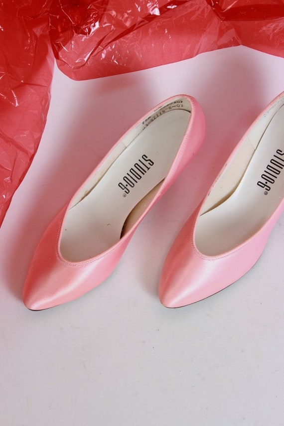 M Party Heels 7 Pumps Satin Low 5 Heel Pink Size P5zqF1