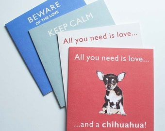Chihuahua Vintage Style Greetings Card