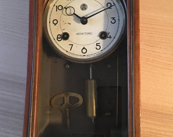Japanese Aichi Tokei Denki Wall Clock