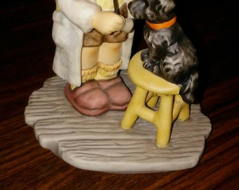 "Hummel Goebel Berta Hummel figurine of boy and dog, ""the doctors in"", BH9, vet and dog, rare vintage hummel Goebel MUST SEE best Hummel deal"