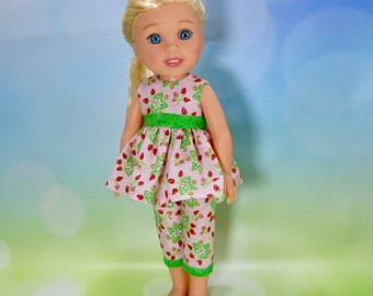 14.5 doll clothes, Made to fit Wellie Wishers Doll,  14.5 inch Doll Dress, 14 inch doll dress, 14 inch doll outfit, , 03-2878