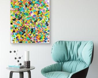 "Painting, Original Art, Modern Home Decor, Wall Art ""Marbles IV"""