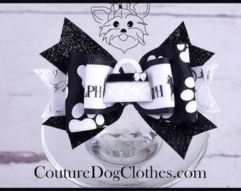 Medium Dog Bow / Designer Dog Bow / Dog Hair Bow / Designer Hair Bow / Dog Clothes / Dog Bows / Dog Boutique / Couture Dog Clothes