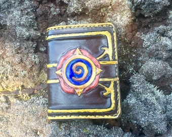 Hearthstone card pack leather wallet