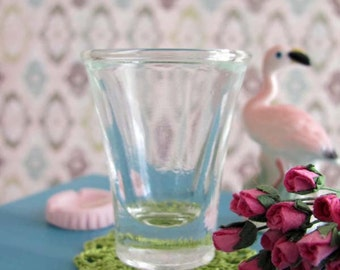 Miniature VASE - Flared Top Heavy Glass Vase for 1:6 Scale Fashion Dolls and Action Figures
