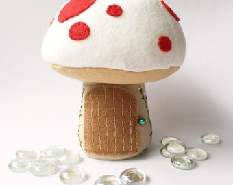 Tooth Fairy Pillow / Tooth Fairy Door / Tooth Fairy House / Tooth Fairy Pouch / Tooth Fairy Bag / Fairy Toadstool - White