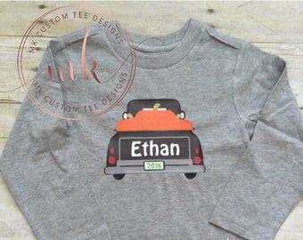 Fall pumpkin Shirt - Fall Shirts - pumpkin truck shirt- Boys Shirts - Fall Pumpkin - Toddlers Shirts -Tops - baby fall - Bodysuit