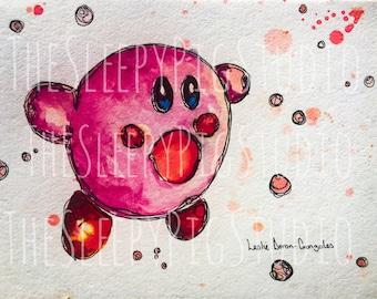 Digital Kirby Watercolor