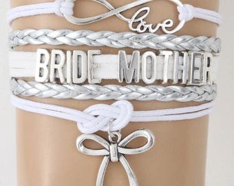 Bride Mother Adjustable Wrap Bracelet