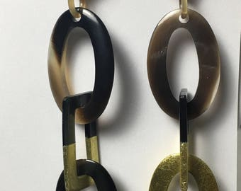 Lacquer Gold link earrings