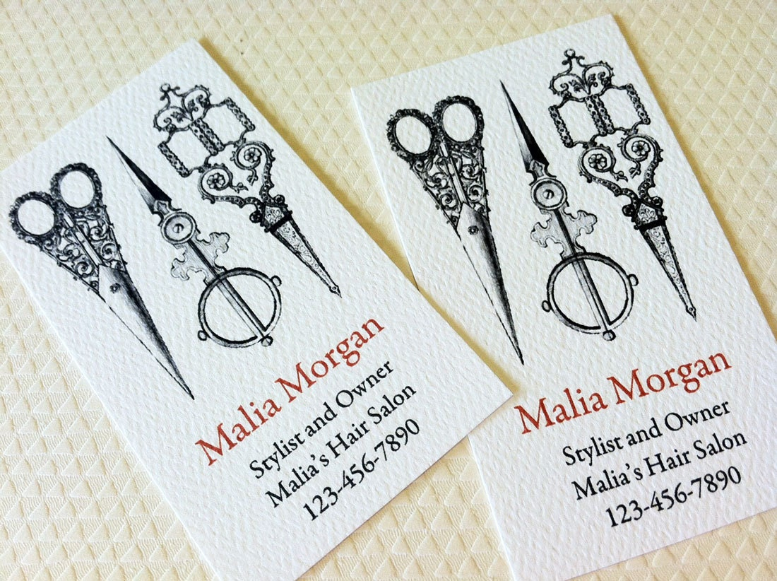 Business Card Custom Business Card Sewing Stylist Seamstress