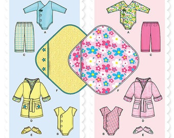 Simplicity Sewing Pattern 1042 Babies' Layette