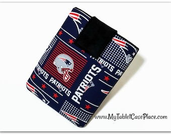 Handcrafted, Tablet Case, iPad Cover, New England Patriots, NFL, iPad Mini Case, Kindle Fire Cover, Tablet Sleeve, Cozy, FOAM Padding,  Gift