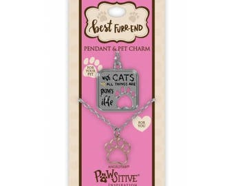 Best Furr-End Pendant and Charm Set - With Cats All Things Are Pawsible