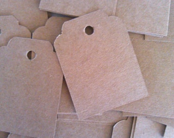 Gift Tags, Scallop Tags, Set of 50, Price Tag, Jewelry Tag, Wedding Tag