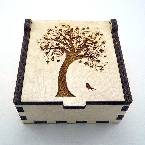 Tree of Life Jewelry Box Wood Trinket Box Small Jewelry